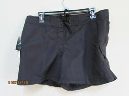 New Women Size 8 Kanu Surf Board Shorts BREEZE Solid Black U