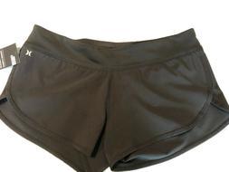 New Hurley Womens Phantom Beachrider Shorts Size Large Black