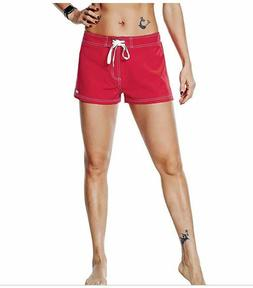 Nonwe Women's Beach Shorts Quick Dry Soild Lightweight Red X