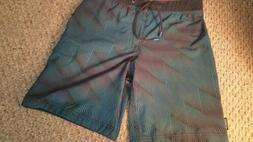 NWOT Men's Speedo Board Shorts  Size 30 Navy Drawstring / Fl
