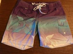 NWOT, HURLEY WOMEN'S/JUNIOR MULTI-COLOR BOARDSHORTS SIZE 7