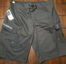 "NWT Quiksilver  22"" Black Boardshort Short Sz 32"