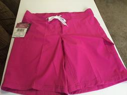 NWT $42 Kanu Surf Women's Marina Solid Stretch Boardshort; P