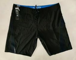 NWT $59.95 Men's O'Neill Superfreak Solid Black Board Shorts