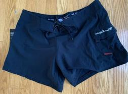 NWT  Maui Rippers Board Shorts Size 12 Black Excellent Condo