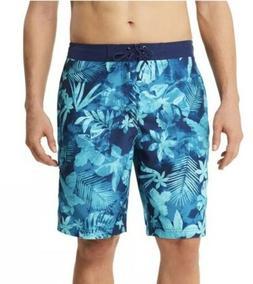 NWT Men's Speedo Marble Floral Board Shorts Swim - Medium