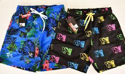 NWT Men's MTV Board Shorts Swim Trunks Tropical Logo PICK SI