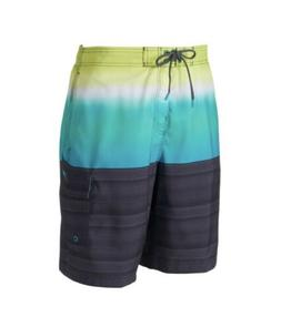 NWT Men's Speedo Surging Striped Stretch Board Shorts Large
