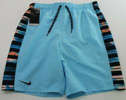 Nike NWT Men's Swim Trunks Board Shorts Blue NESS9420 Size L