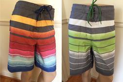 "NWT George Men's Swim Trunks E Board Shorts Elastic 20"" Outs"