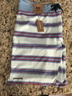 NWT Men's Patagonia Tarkine Stripe Swim Trunks Board Shorts