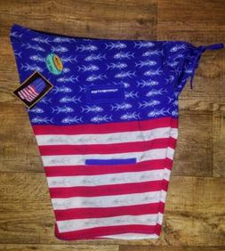 NWT Tormenter Men's True Colors Boardshorts Size 44 Fish Swi