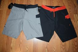 NWT Mens Fox Bionic Overhead Board Shorts Black Gray 30 31 3
