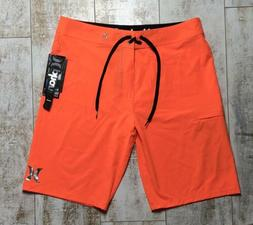 "NWT Hurley Mens Boardshorts Phantom One and Only 20"" Neon Or"