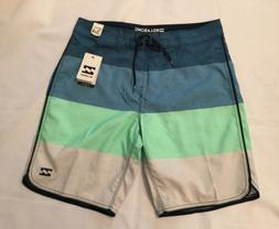 NWT Mens Billabong OG Stripe Board Shorts Blue Size 34