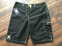 NWT Men's Hurley One and Only Boardshorts Black And Green