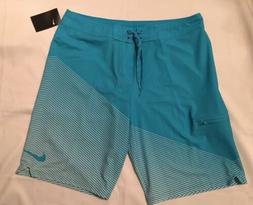 "NWT Mens Nike Swim Jackknife 11"" Board Shorts Blue Size 36"