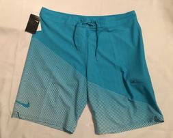 "NWT Mens Nike Swim Jackknife 11"" Board Shorts Blue Size 38"