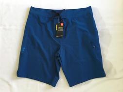 NWT Mens Under Armour UA Stretch Board Shorts Blue Size 36