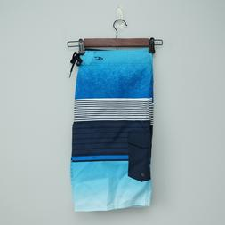 "NWT O'NEILL LENNOX Men's Swim 21"" Stripped Blue Board Sh"