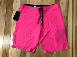 NWT HURLEY Phantom One and Only Mens Pink Board Surf Shorts