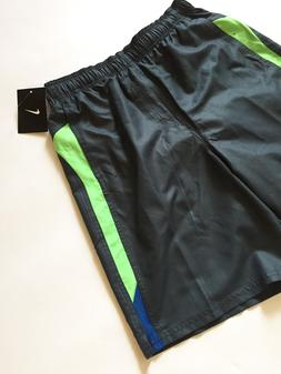 NWT Nike Run Swim Trunks Board Shorts Size S Chevron Blue Gr