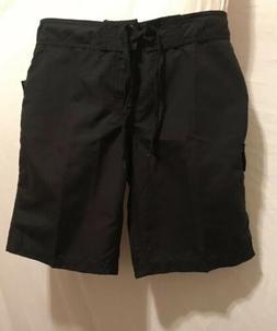 NWT ~ Kanu Surf ~ ~ Size 8~Women's Marina Board Shorts Black