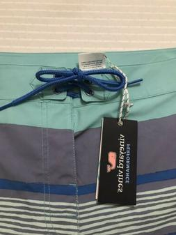 NWT Vineyard Vines Surfer Stripe Board Shorts Swim Trunks 35