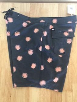 NWT Banks Journal Urchin Dirty Denim Boardshorts Size 38