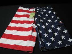 Clothin NWT USA American Flag Board Shorts Swimwear swimsuit