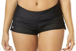 NWT Women's Nike Sport Swim Boardshorts Black Mesh Size L