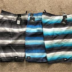 O'neill Board Shorts Men's Santa Cruz Stripe Size 32 NEW Sur