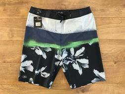 "O'NEILL Hyperfreak Elevate Boardshorts 21"" Navy Blue Green S"