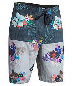 O'Neill Men's Catalina Stripe Board Shorts, Black Floral, Si