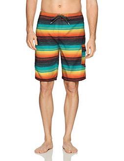 O'Neill Men's Santa Cruz Print Boardshort, stripe multi, 38