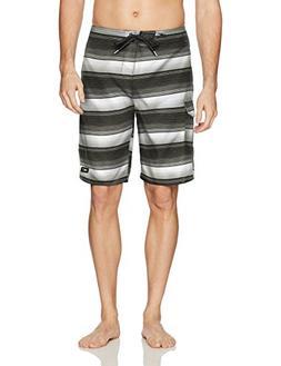 O'Neill Men's Santa Cruz Print Boardshort, stripe black, 38