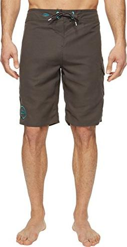 O'Neill Men's Santa Cruz Solid 2.0 Boardshorts Asphalt Swims
