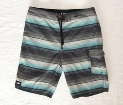 O'Neill Men's Santa Cruz Stripe Boardshorts, Swim Shorts, Bl