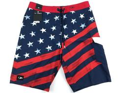 O'Neill Men's Stars N' Stripes Board Shorts Sizes 32, 34, 40