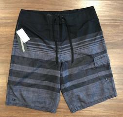 O'Neill Mens Calypso Boardshorts Black W/ Grey Size 32