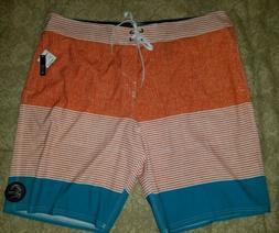 O'NEILL Orange, White, Teal, Board Shorts Santa Cruz, Slim F