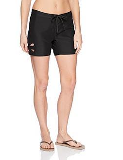 O'Neill Women's Trinity Short Boardshort, Black, 3