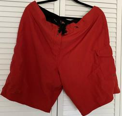 O'neill Boardshorts Size 38 Red