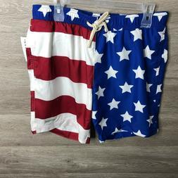 Pacsun Mens Medium American Flag Swim Board Shorts Modern Am