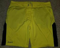 Huk Performance Fishing Yellow Swim Board Shorts Sz 42 New