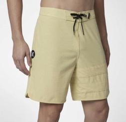 Hurley Phantom Board Shorts Block Party Buff Gold Size 36 NW