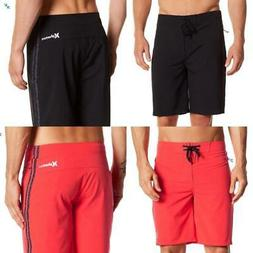 "Hurley Phantom JJF 3 Men's 20"" Board Shorts - Black Crimson"