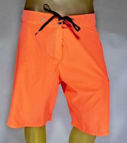 HURLEY PHANTOM Swim Board Shorts sz 36 Neon SALMON Pink / Or