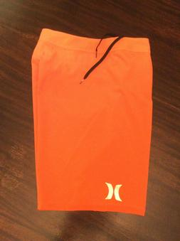 "Hurley Phantom Sz 34/36 11"" Inseam Board Shorts Swim Orange"