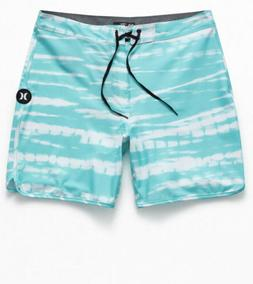 phantom tigerdye mens 18 boardshorts swimsuit aqua